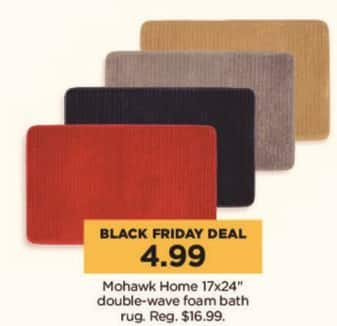 "Kohl's Black Friday: Mohawk Home 17x24"" Double-Weave Foam Bath Rug for $4.99"