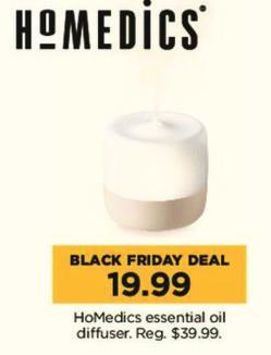 Kohl's Black Friday: HoMedics Essential Oil Diffuser for $19.99
