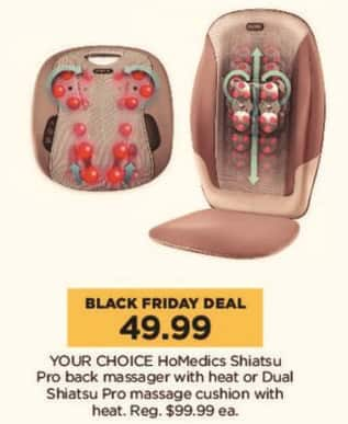 Kohl's Black Friday: HoMedics Shiatsu Pro Back Massager w/ Heat or Dual Shiatsu Pro Massage Cushion w/ Heat - Your Choice for $49.99