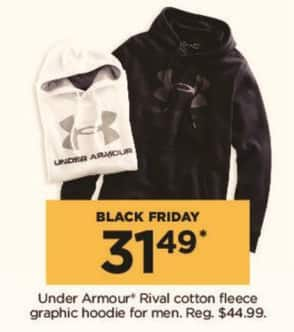 Kohl's Black Friday: Under Armour Men's Rival Cotton Fleece Graphic Hoodie for $31.49