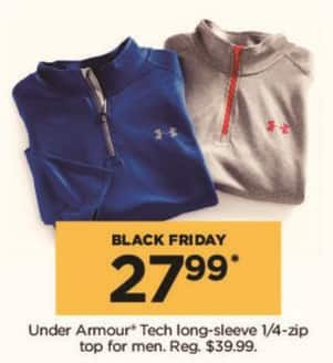 Kohl's Black Friday: Under Armour Men's Tech Long-Sleeve 1/4-Zip Top for $27.99