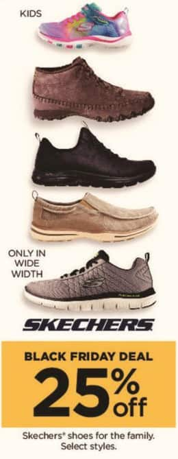 Kohl's Black Friday: Select Skechers Men's, Women's and Kid's Shoes - 25% Off