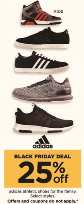 Kohl's Black Friday: Select Adidas Men's, Women's, and Kid's Athletic Shoes - 25% Off