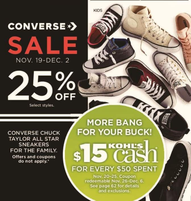 dbabe0049be Kohl s Black Friday  Select Converse Men s