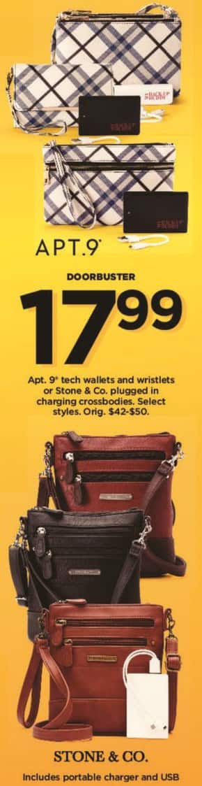 Kohl's Black Friday: Select Apt 9 Tech Wallets and Wristlets for $17.99