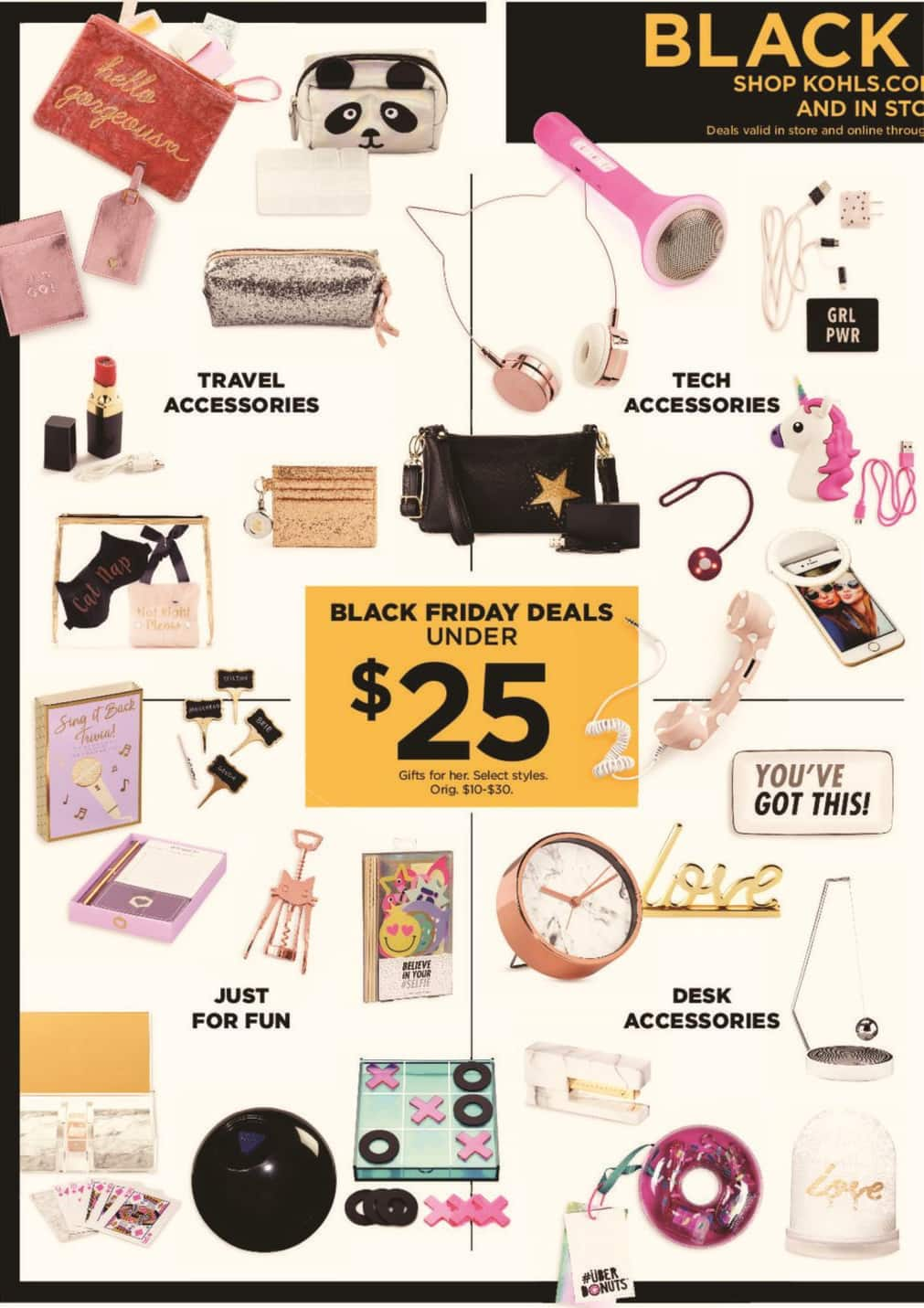 Kohl's Black Friday: Select Women's Gifts - $25 and Under