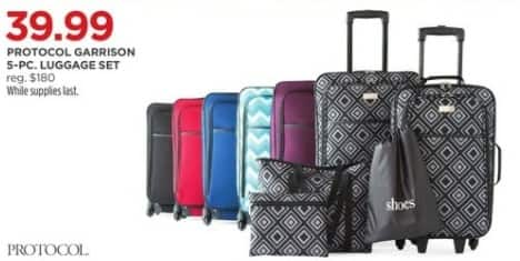 JCPenney Black Friday: Protocol Garrison 5-pc Luggage Set for $39.99