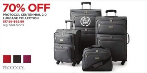 JCPenney Black Friday  Protocol Centennial 2.0 Luggage Collection - 70% Off 39fc044123540