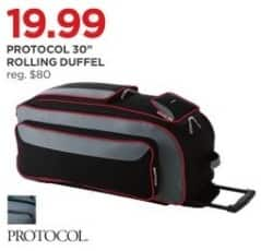"""JCPenney Black Friday: Protocol 30"""" Rolling Duffel for $19.99"""