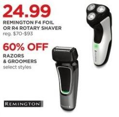 JCPenney Black Friday: Remington F4 Foil or R4 Rotary Shaver for $24.99