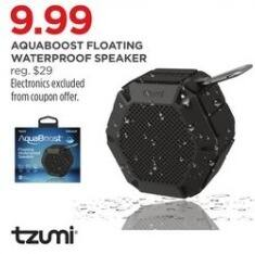 JCPenney Black Friday: Tzumi Aquaboost Floating Waterproof Speaker for $9.99