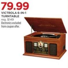 JCPenney Black Friday: Victrola 6-in-1 Turntable for $79.99