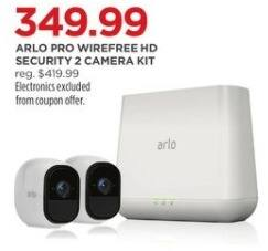 JCPenney Black Friday: Arlo Pro Wirefree HD Security 2 Camera Kit for $349.99