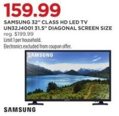 "JCPenney Black Friday: 32"" Samsung UN32J4001 HD LED TV for $159.99"