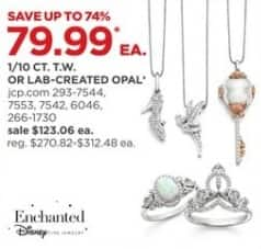 JCPenney Black Friday: Enchanted by Disney 1/10-ct T.W. Sterling Silver Pendant Necklace, Select Styles for $79.99