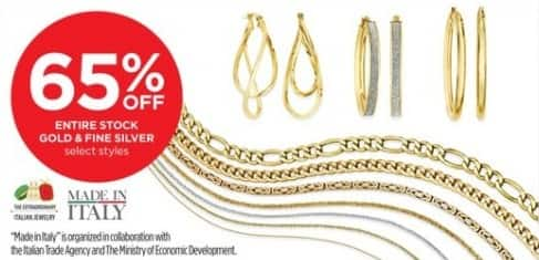 JCPenney Black Friday: Made in Italy Gold & Fine Silver Jewelry, Select Styles - 65% Off