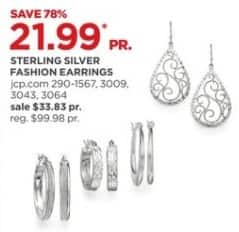 JCPenney Black Friday: Sterling Silver Fashion Earrings, Select Styles for $21.99