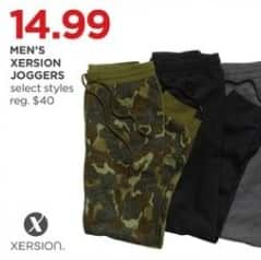 JCPenney Black Friday: Xersion Men's Joggers, Select Styles for $14.99