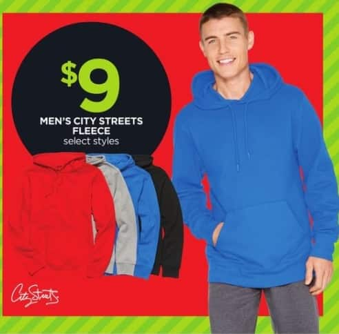 JCPenney Black Friday: City Streets Men's Fleece, Select Styles for $9.00