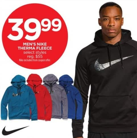 JCPenney Black Friday: Nike Men's Therma Fleece, Select Styles for $39.99