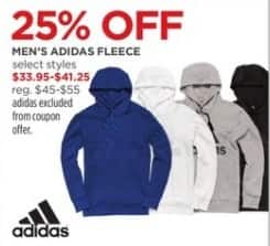 JCPenney Black Friday: Adidas Men's Fleece, Select Styles - 25% Off