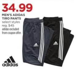 JCPenney Black Friday: Adidas Men's Tiro Pants, Select Styles for $34.99