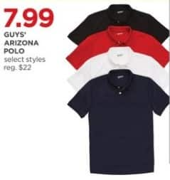 JCPenney Black Friday: Arizona Guys' Polo, Select Styles for $7.99