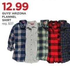JCPenney Black Friday: Arizona Guys' Flannel Shirt for $12.99