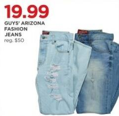 JCPenney Black Friday: Arizona Guys' Fashion Jeans for $19.99