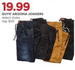 JCPenney Black Friday: Arizona Guys' Joggers, Select Styles for $19.99