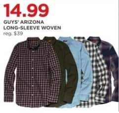 JCPenney Black Friday: Arizona Guys' Long-Sleeve Woven Shirt for $14.99