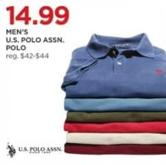 JCPenney Black Friday: U.S. Polo Assn. Men's Polo for $14.99