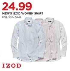 JCPenney Black Friday: IZOD Men's Woven Shirt for $24.99