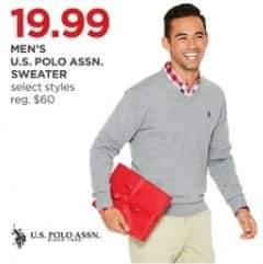 JCPenney Black Friday: U.S. Polo Assn. Men's Sweater, Select Styles for $19.99