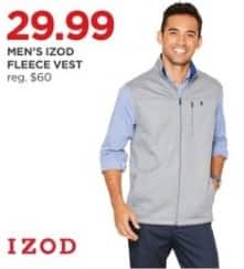 JCPenney Black Friday: IZOD Men's Fleece Vest for $29.99