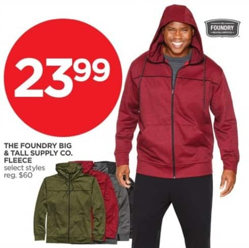 JCPenney Black Friday: The Foundry Big & Tall Supply Co. Men's Fleece, Select Styles for $23.99