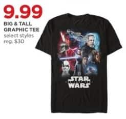 JCPenney Black Friday: Big & Tall Men's Graphic Tees, Select Styles for $9.99