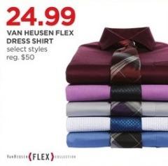 JCPenney Black Friday: Van Heusen Men's Flex Dress Shirt, Select Styles for $24.99