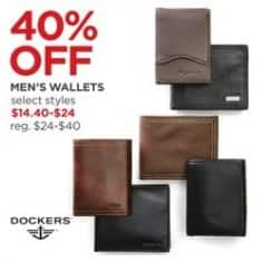 JCPenney Black Friday: Select Men's Wallets - 40% Off