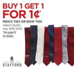 JCPenney Black Friday: Men's Ties or Bow Ties, Select Styles - Buy 1, Get 1 for 1 Cent