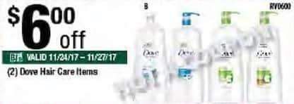 BJs Wholesale Black Friday: (2) Dove Hair Care Items - $6 Off