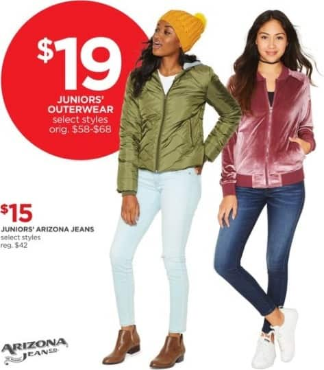 JCPenney Black Friday: Arizona Juniors' Outerwear, Select Styles for $19.00