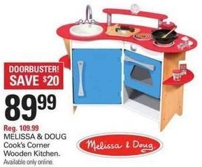 Shopko Black Friday: Melissa & Doug Cook's Corner Wooden Kitchen for $89.99