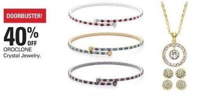 Shopko Black Friday: OroClone Crystal Jewelry - 40% Off