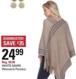 Shopko Black Friday: White Mark Women's Poncho for $24.99