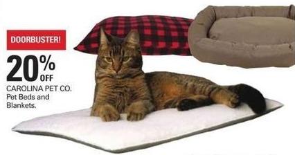 Shopko Black Friday: Carolina Pet Co. Pet Beds and Blankets - 20% Off
