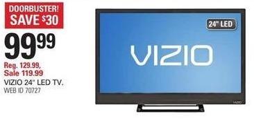 "Shopko Black Friday: 24"" Vizio D24HN-E1 LED TV for $99.99"