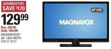 "Shopko Black Friday: 32"" Magnavox 32ME306V/F7 LED HDTV for $129.99"