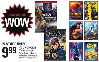 Shopko Black Friday: Select Blu-Rays and DVDs: John Wick 2, Fantastic Beasts & More for $9.99