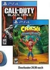 Shopko Black Friday: Call of Duty Black Ops III or Crash Bandicoot N. Sane Trilogy (PS4) for $24.99